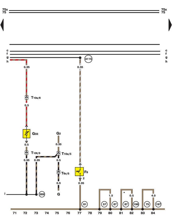 Электросхема - Лампа ручного