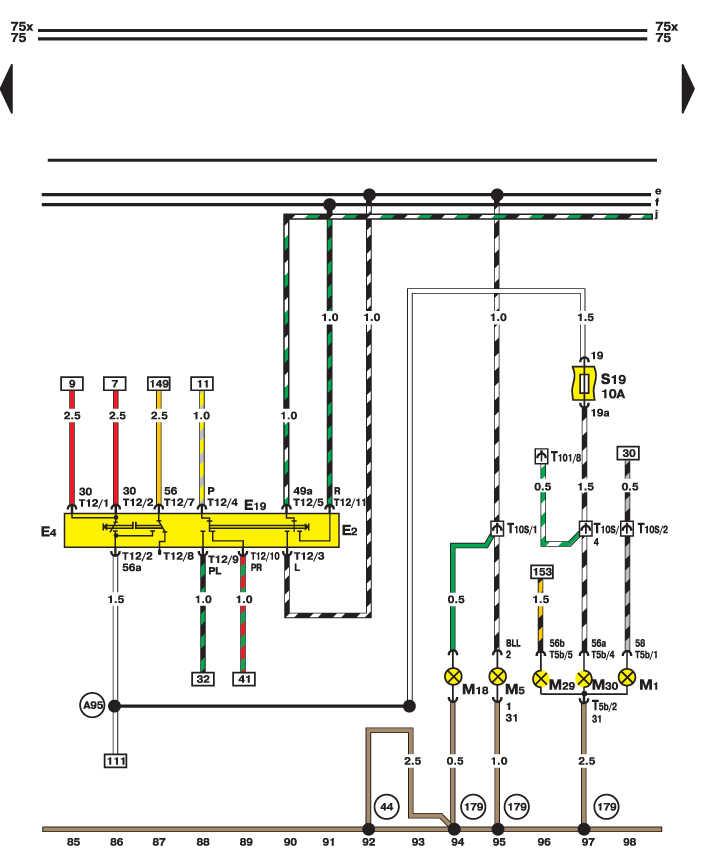 Электросхема - Переключатель