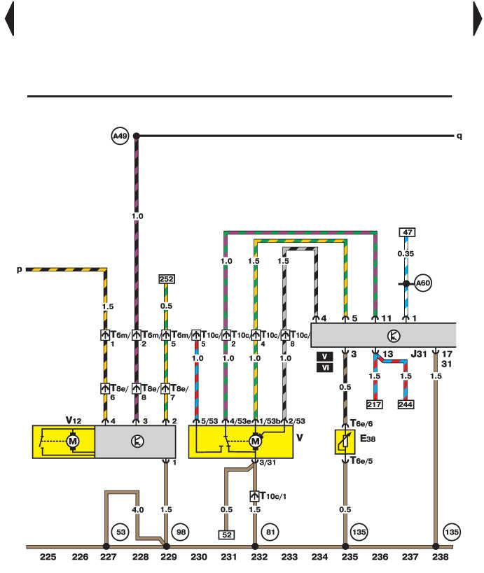 электросхема фольксваген пассат б5 +