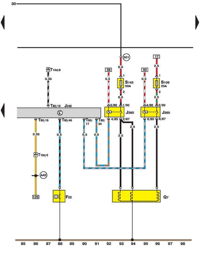 Электросхема - Реле и свечи
