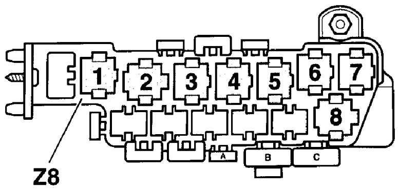 Блок реле Z13 – над блоком